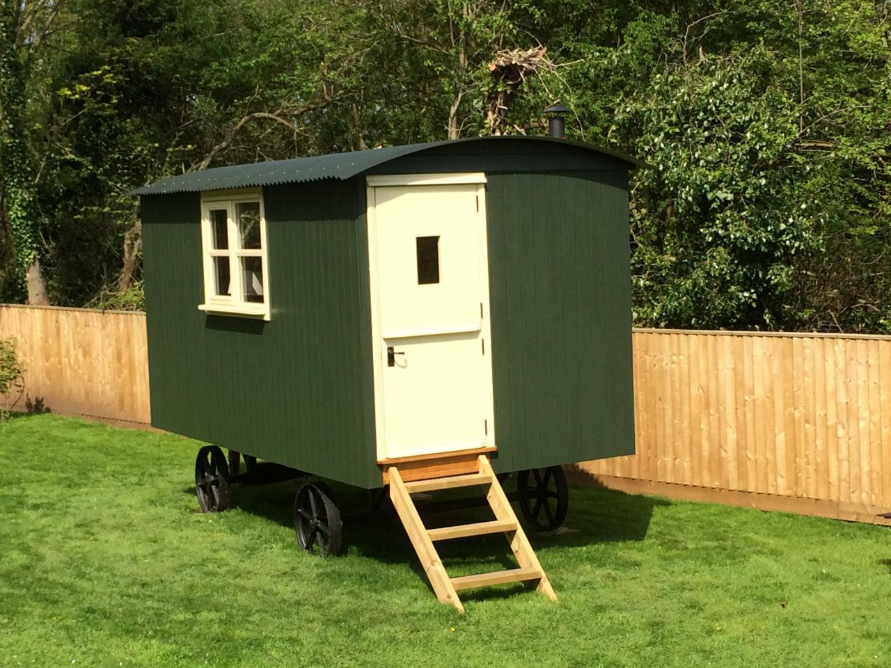 Cowley shepherds huts quality built huts at realistic for Garden hut sale